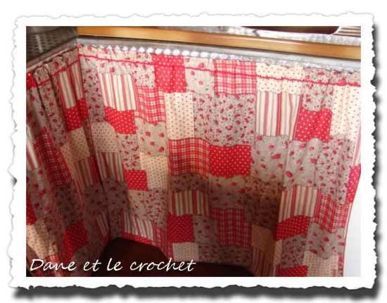 Rideaux sous vier dane et le crochet - Rideau sous evier cuisine ...